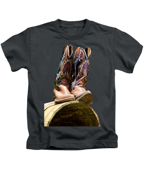 Cowboy Boots  Kids T-Shirt