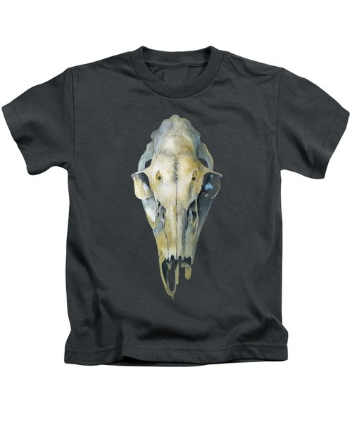 Deer Skull With Aura Kids T-Shirt