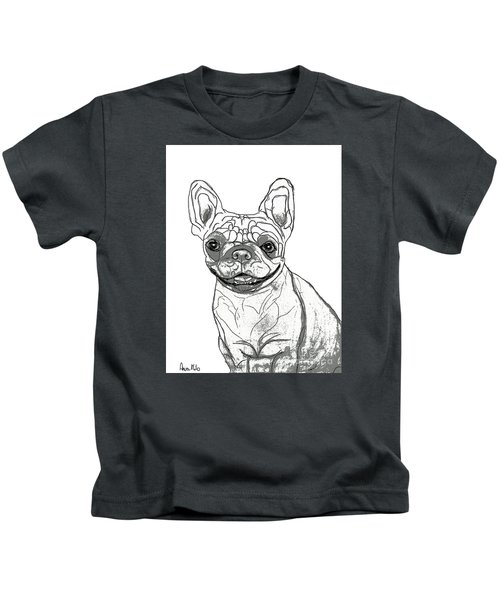 Dog Sketch In Charcoal 7 Kids T-Shirt