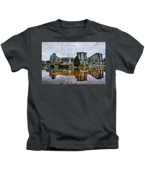 Downtown Of Greenville South Carolina Around Falls Park Kids T-Shirt