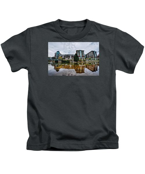 Downtown Of Greenville South Carolina Around Falls Park Kids T-Shirt