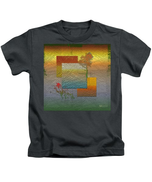 Early Morning In Boreal Forest Kids T-Shirt