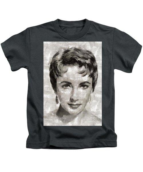 Elizabeth Taylor, Vintage Hollywood Legend Kids T-Shirt