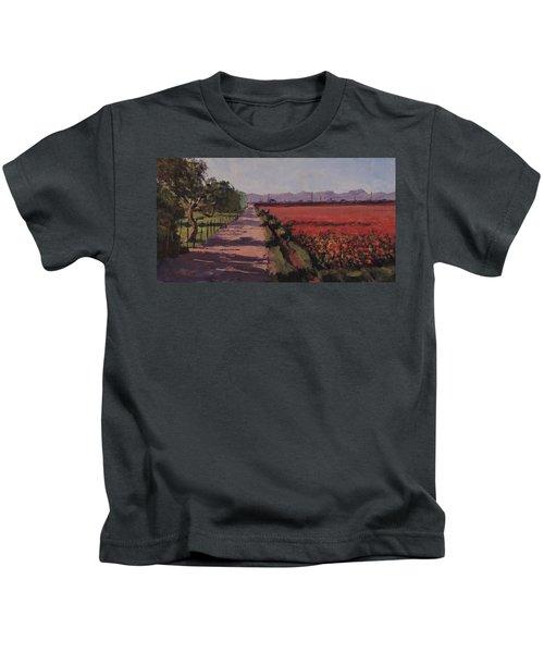 Farm Road - Art By Bill Tomsa Kids T-Shirt