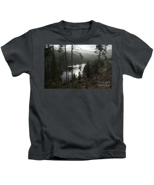 Firehole River In Yellowstone Kids T-Shirt