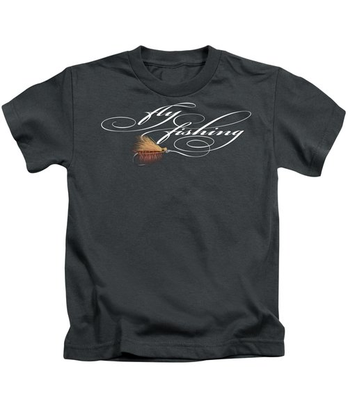 Fly Fishing Elk Hair Caddis Kids T-Shirt