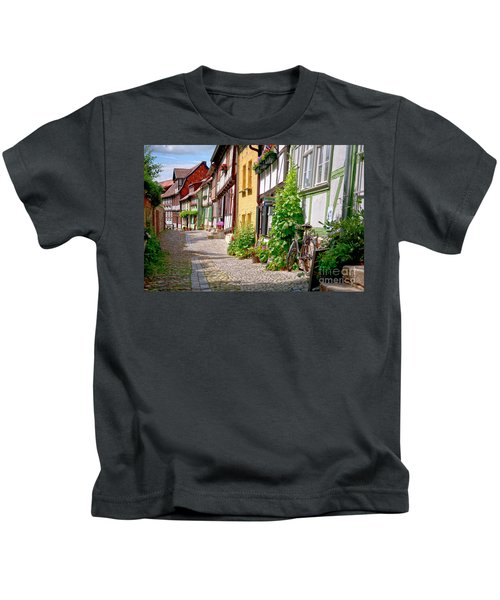 German Old Village Quedlinburg Kids T-Shirt