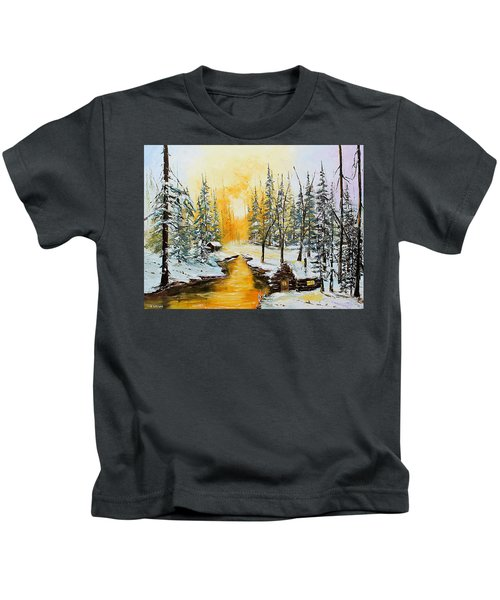 Golden Winter Kids T-Shirt