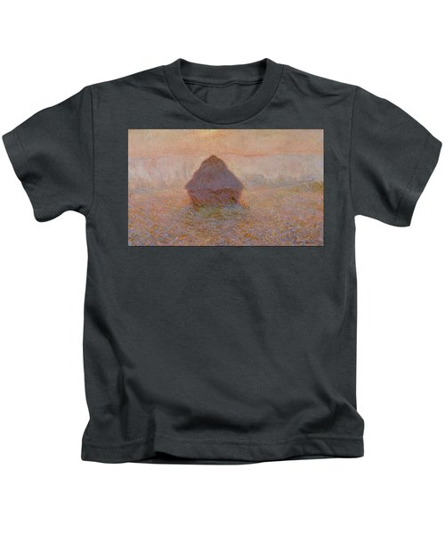 Grainstack, Sun In The Mist 1891 Kids T-Shirt