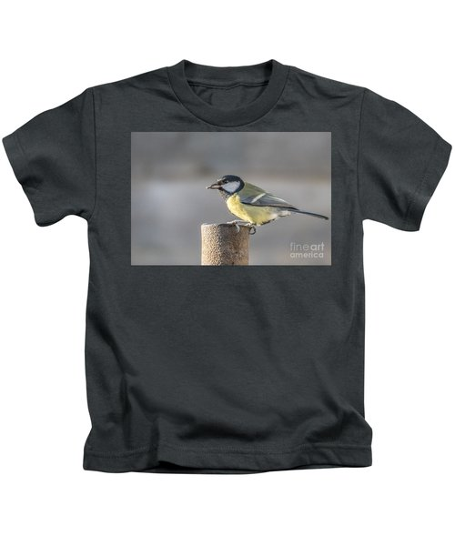 Great Tit On The Tube Kids T-Shirt