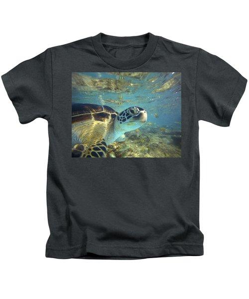 Green Sea Turtle Balicasag Island Kids T-Shirt