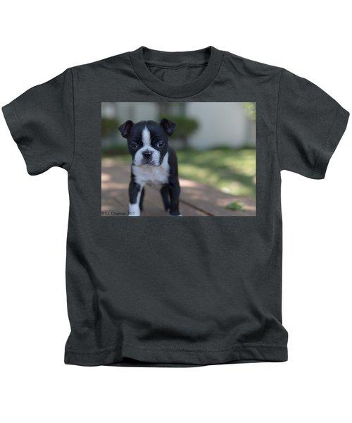 Harley As A Puppy Kids T-Shirt