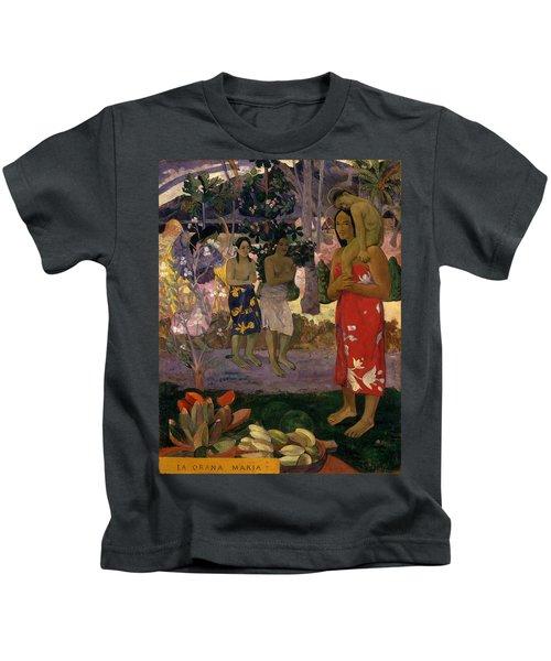 Ia Orana Maria Hail Mary Kids T-Shirt