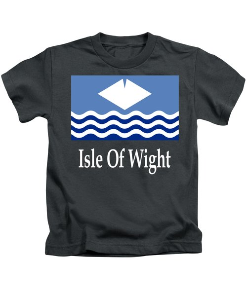 Isle Of Wight, England Flag And Name Kids T-Shirt