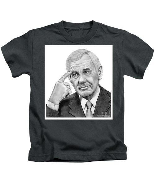 Johnny Carson Kids T-Shirt by Murphy Elliott