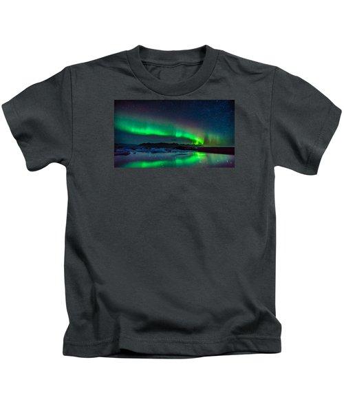 Jokulsarlon Aurora Kids T-Shirt