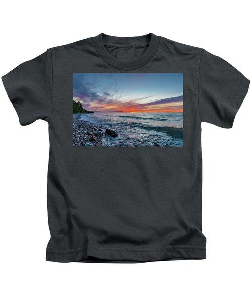 Lake Superior Sunset Kids T-Shirt