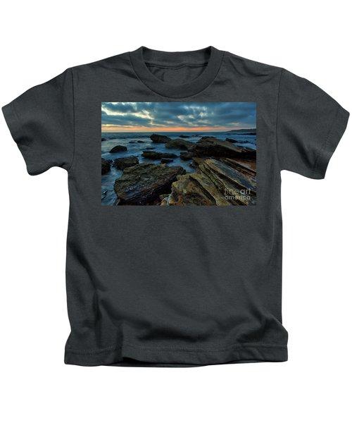 Last Light At Crystal Cove Kids T-Shirt