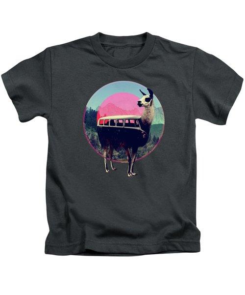 Llama Kids T-Shirt by Ali Gulec
