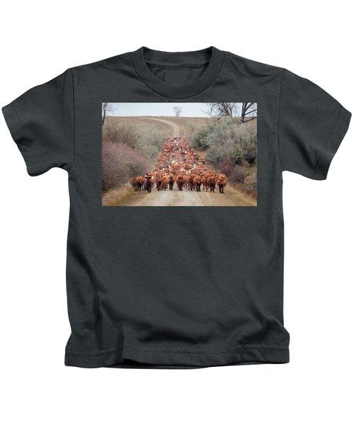 Long Line Of Reds Kids T-Shirt