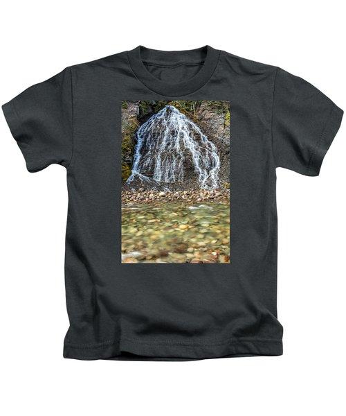 Cascades Of Maligne Canyon Kids T-Shirt