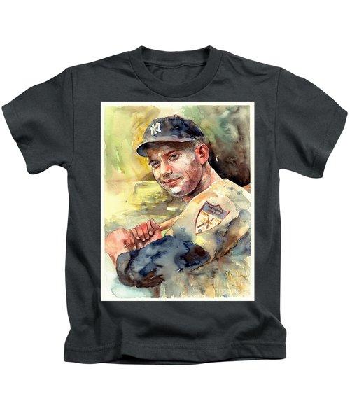 Mickey Mantle Portrait Kids T-Shirt