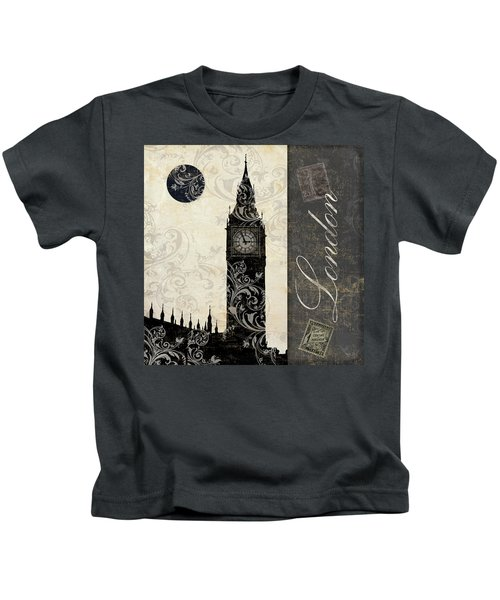 Moon Over London Kids T-Shirt by Mindy Sommers