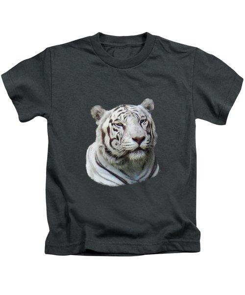 Namaste White Tiger Kids T-Shirt