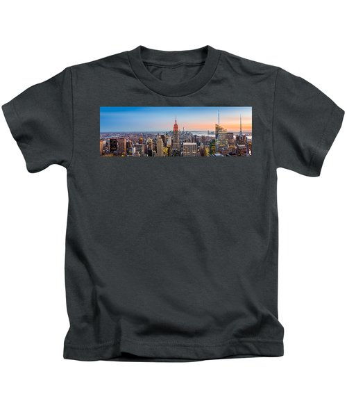 New York Skyline Panorama Kids T-Shirt