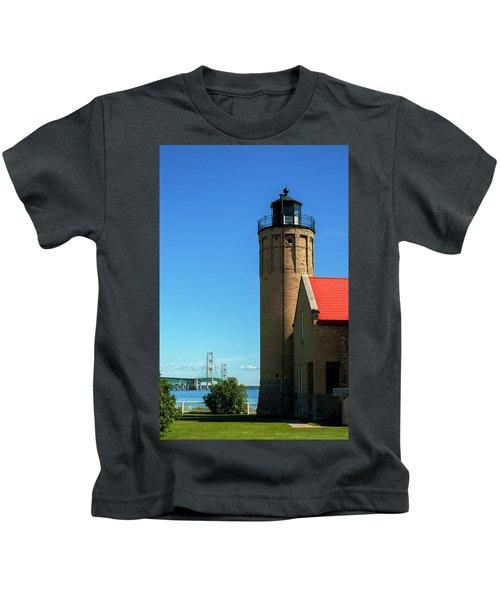 Old Mackinac Point Lighthouse Kids T-Shirt