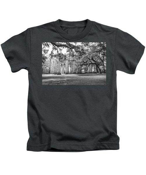 Old Sheldon Church - Tree Canopy Kids T-Shirt