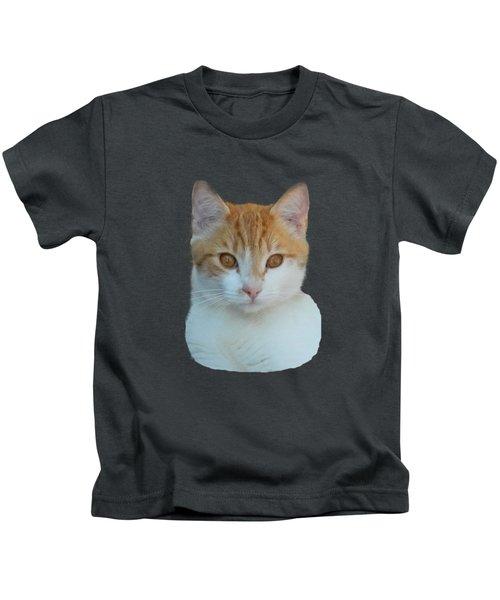Orange And White Cat Kids T-Shirt