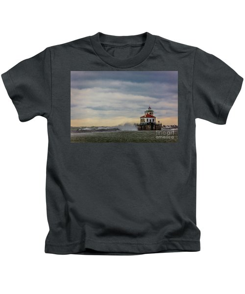 Oswego Harbor West Pierhead Light Kids T-Shirt