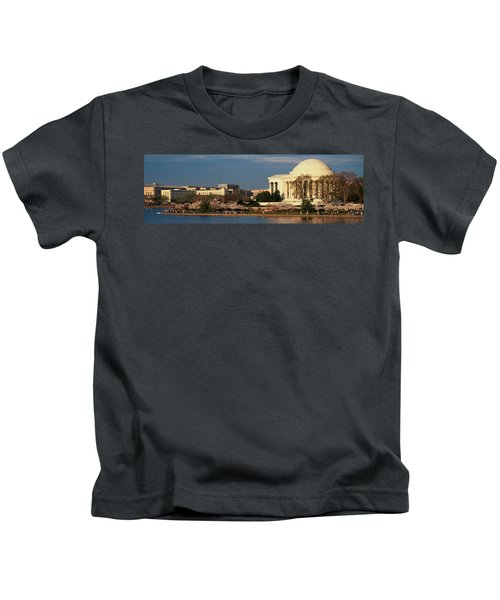 Panoramic View Of Jefferson Memorial Kids T-Shirt by Panoramic Images