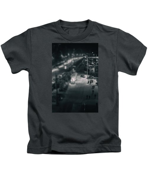 People At Night From Arerial View Kids T-Shirt