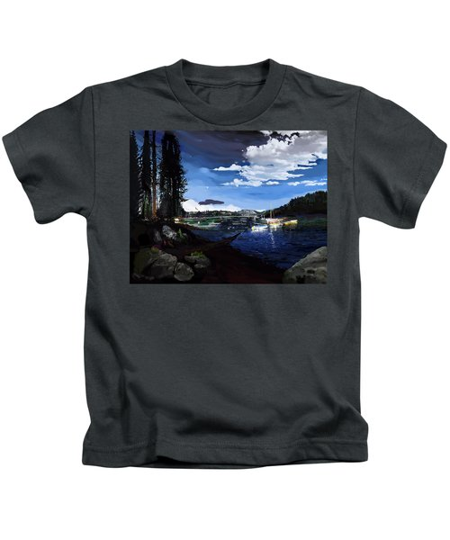 Pinecrest And Boats Kids T-Shirt