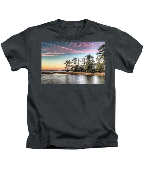 Pink Sky At Night Kids T-Shirt