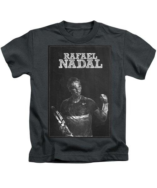 Rafael Nadal Kids T-Shirt by Semih Yurdabak