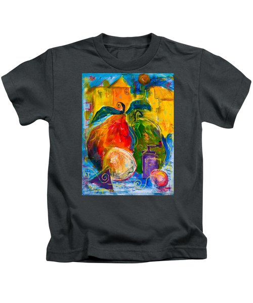 Red And Green Pears Kids T-Shirt