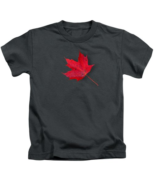 Red Maple Leaf Kids T-Shirt