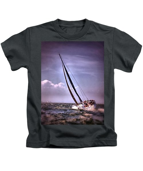 Sailing To Nantucket 003 Kids T-Shirt