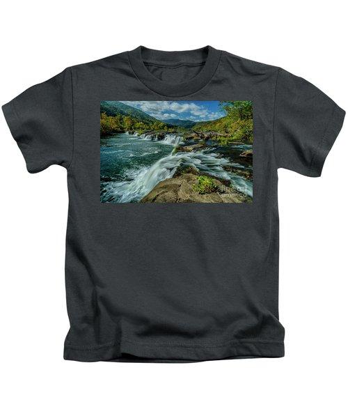 Sandstone Falls New River Kids T-Shirt