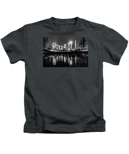 Skyline Of Birmingham Alabama From Railroad Park Kids T-Shirt