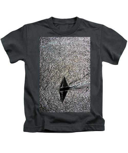Sailing Into Solitude Kids T-Shirt