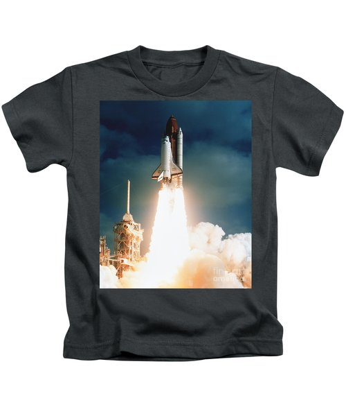 Space Shuttle Launch Kids T-Shirt