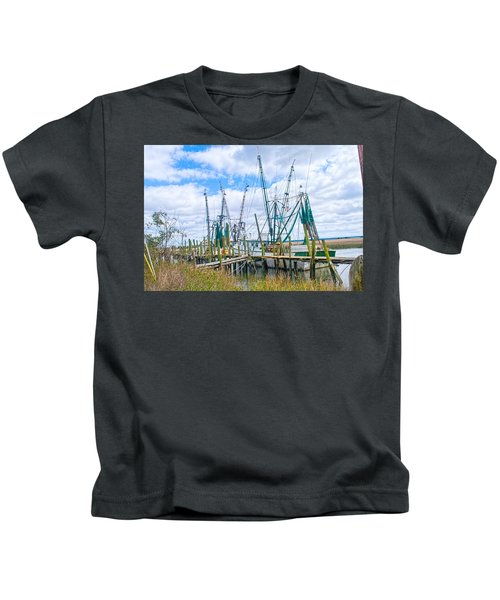 St. Helena Shrimp Boats  Kids T-Shirt