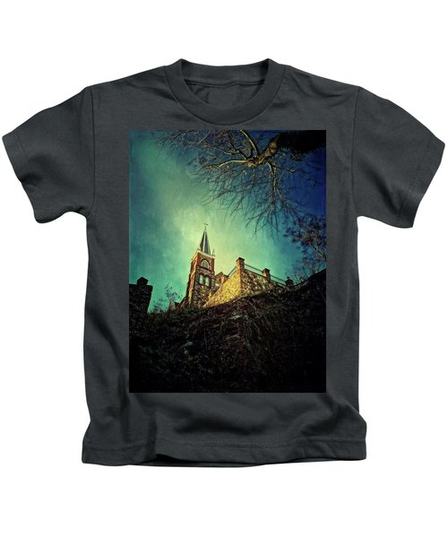 Kids T-Shirt featuring the photograph St. Peter's Harpers Ferry by Chris Montcalmo