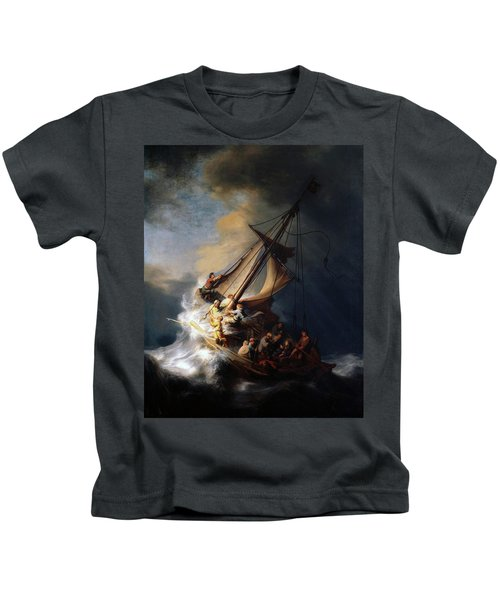 Storm On The Sea Of Galilee Kids T-Shirt