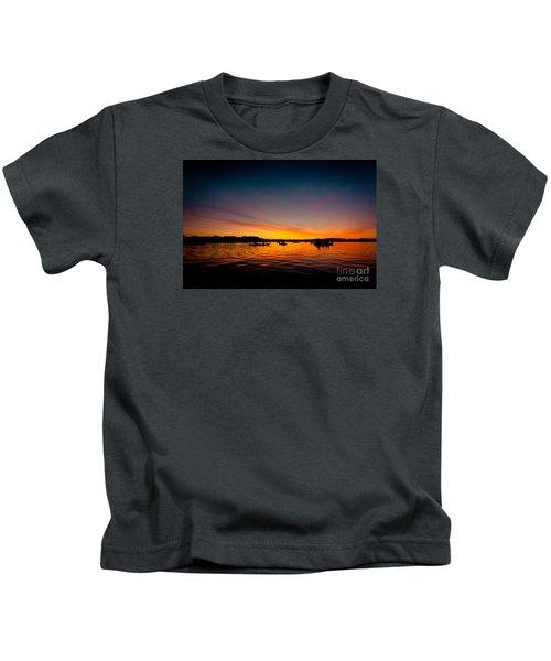 Sunrise Above Lake Water Summer Time Kids T-Shirt
