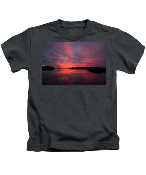 Sunrise Reflection Kids T-Shirt